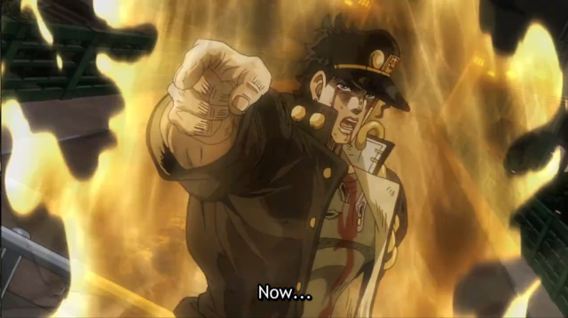 JoJo's Bizarre Adventure Jotaro before the Final Fight