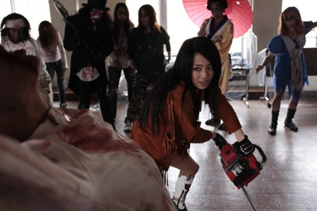 Big Tits Zombie Sora Aoi and Chainsaw