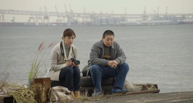 Fuku-chan of Fukufuku Flats Chiho (Asami Mizukawa) and Fuku-chan (Miyuki Oshima) at the Docks