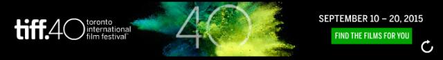 Toronto International Film Festival 2015 Banner Logo