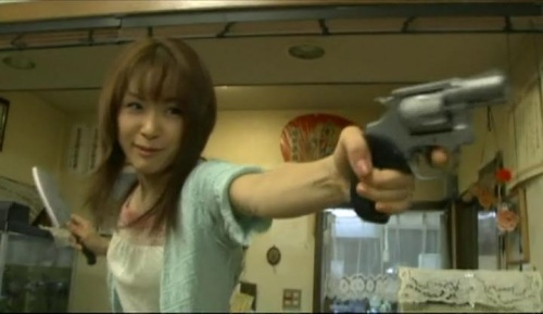Zombie Self Defence Force Hitomi with Weapons