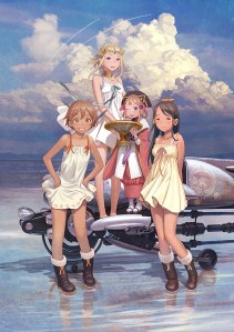 Gekijouban Last Exile Ginyoku no Fam Over the wishes Film Poster