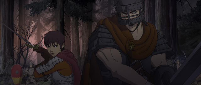 Berserk Guts and Casca Fight in Forest