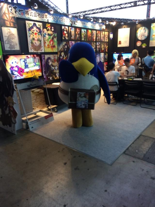 Genkina hito in Japan Tokyo Game Show Prinny