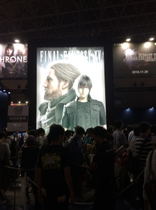 Genkina hito in Japan Tokyo Game Show Final Fantasy Banner