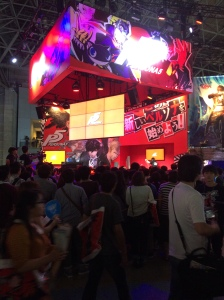Genkina hito in Japan Tokyo Game Show Persona 5 Booth