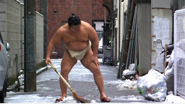 A Normal Life Sumo Wrestler Film Image