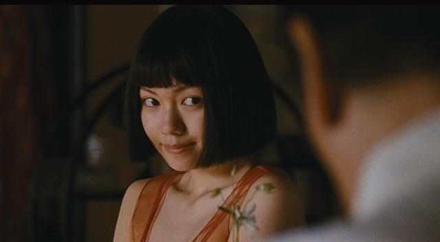 Mitsu no Aware Fumi Nikaido Akako at the bar