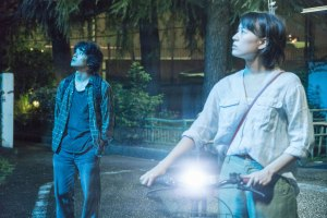 The Tokyo Night Sky is Always the Densest Shade of Blue Film Image Shizuka Ishibashi and Sosuke Ikematsu
