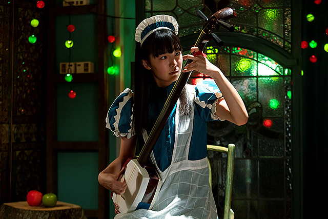 Itomichi Film Ren Komai Playing a Shamisen