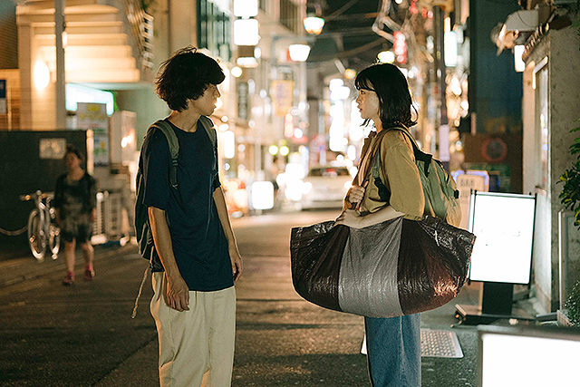 Over the Town Ao (Ryuya Wakaba) and Iha (Seina Nakata)
